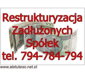Restrukturyzacja Skup Zadłużonych Spółek oraz JDG/pomoc KAS/US/ZUS - 233/299/586 K.s.h